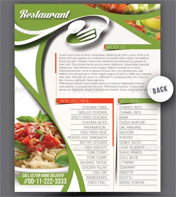 picture regarding Deal a Meal Cards Printable known as 47+ Menu Card Templates - Ai, Psd, Docs, Internet pages Free of charge