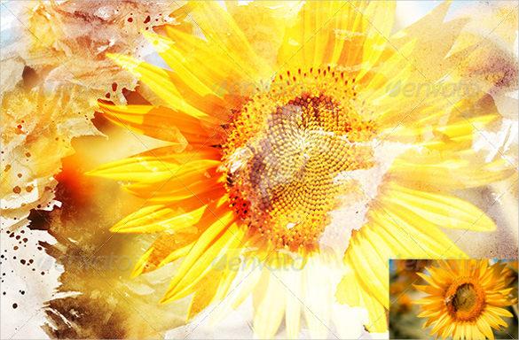 sunflower abstract art
