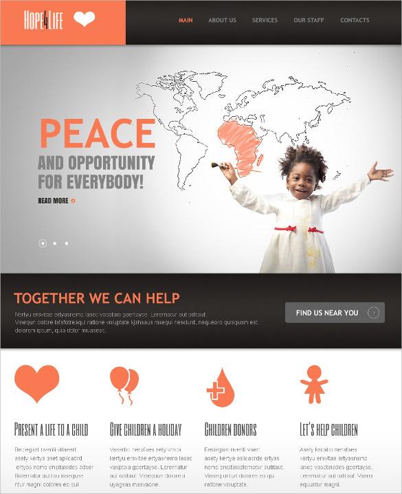 charity organization non profit drupal template