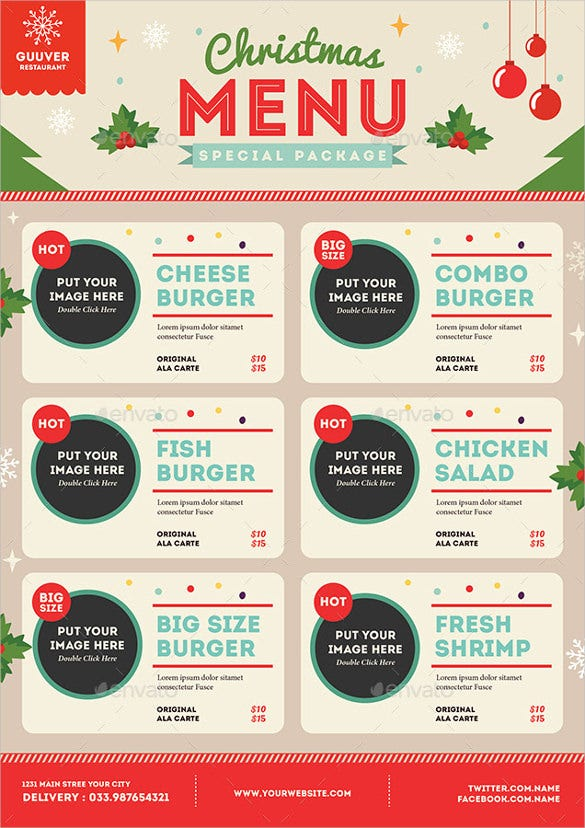 christmas menu vector eps format download1