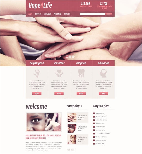heart charity non profit drupal template
