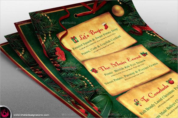 sample christmas menu template1