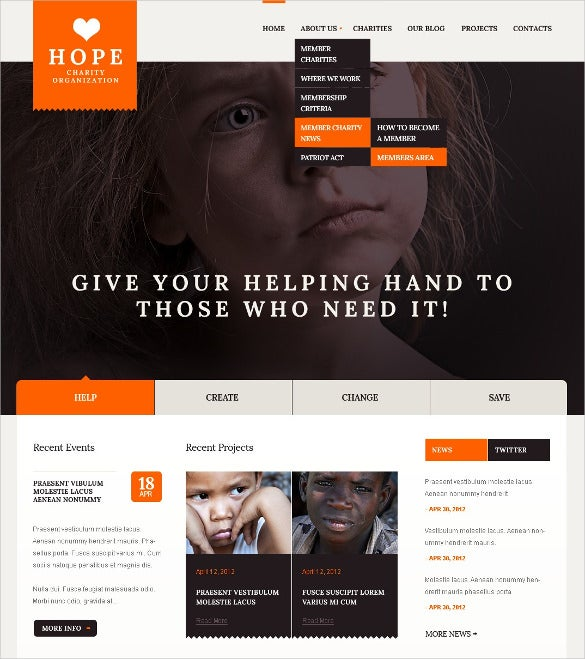 child care charity non profit drupal template 66
