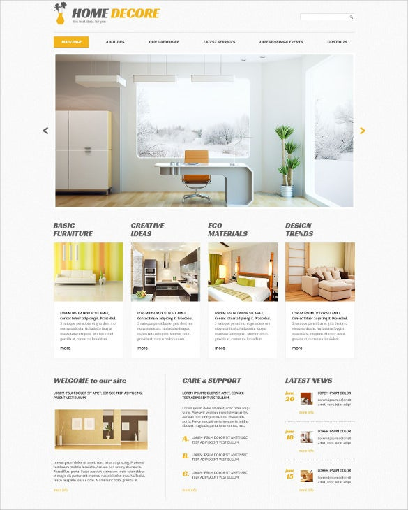 home decor furniture responsive wordpress theme