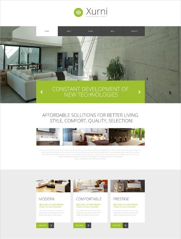 interior furniture store wordpress theme