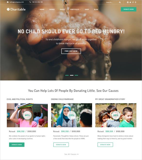 foundation events non profit drupal template 12