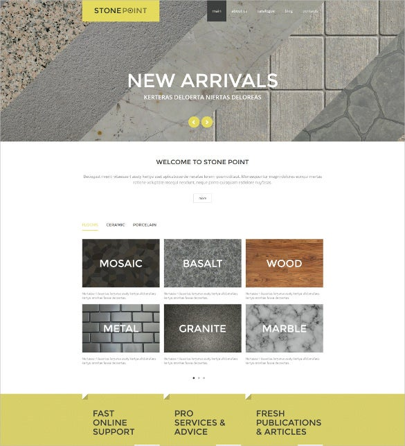 flooring furniture materials joomla template
