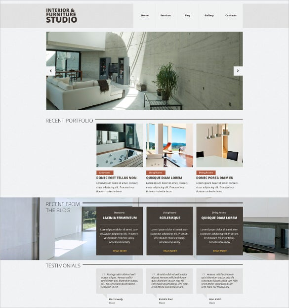 interior furniture responsive joomla template