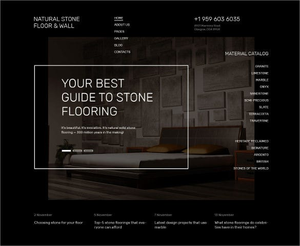 natural stone floor furniture joomla template