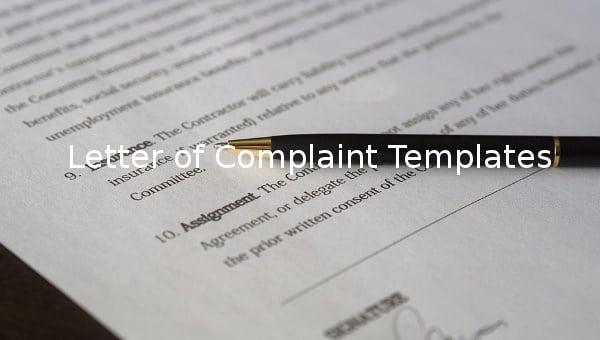 letterofcomplainttemplate