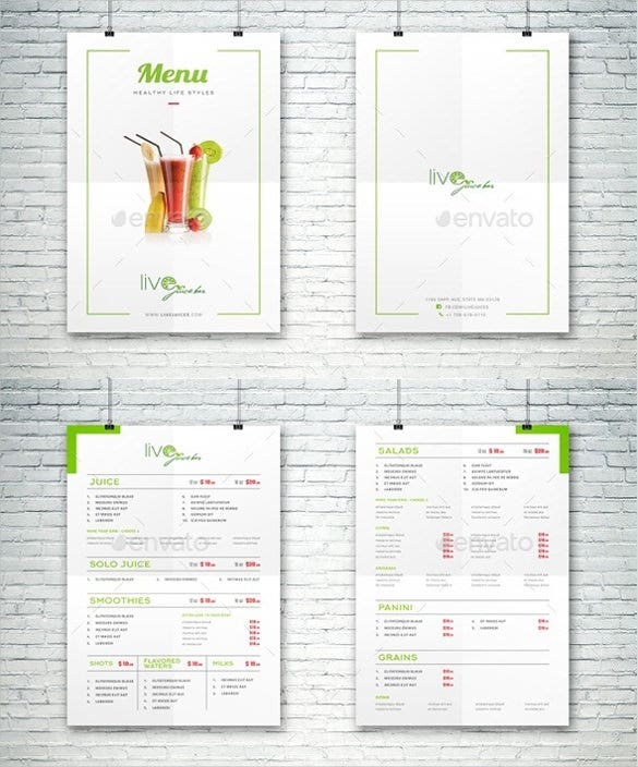 restaurant bar menu template vector eps format download