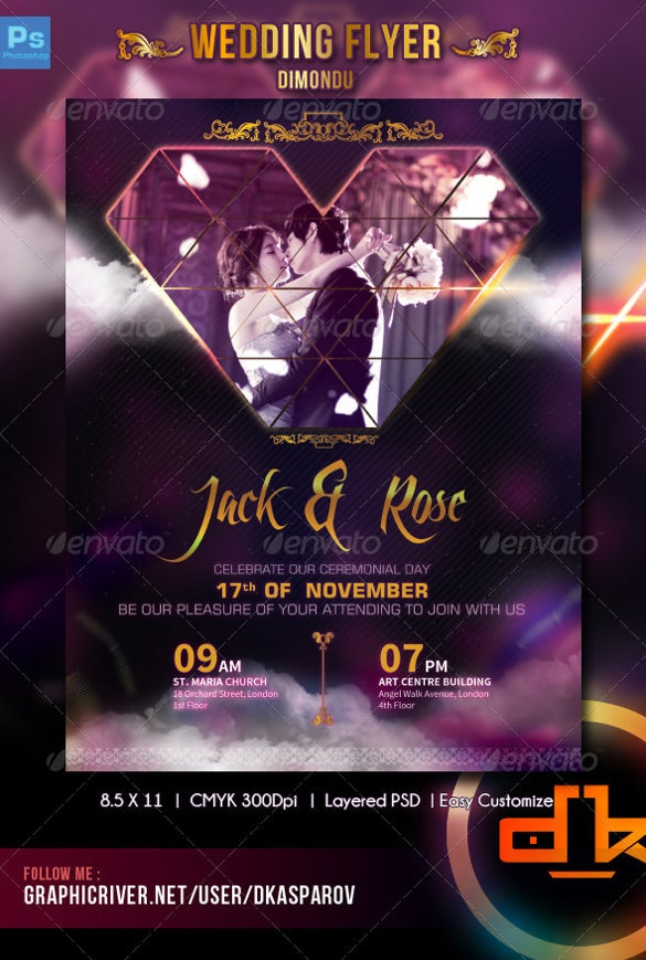 wedding flyer 25 free psd ai vector eps format download free