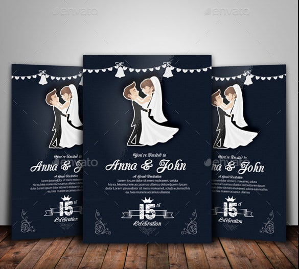 wedding flyer template easy to download