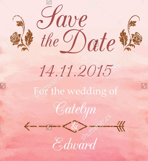 love the date wedding flyer template download