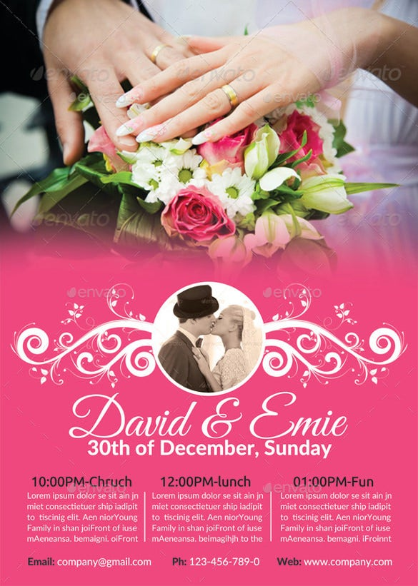 30  wedding flyers