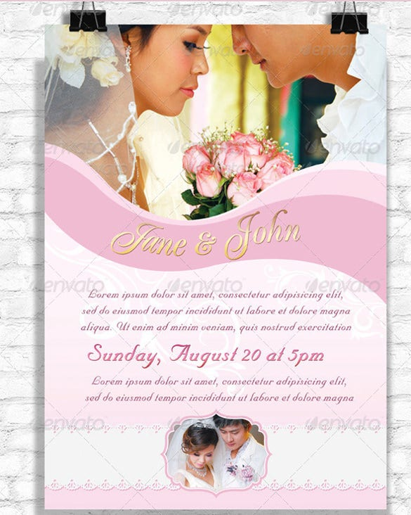 professional wedding flyer template download