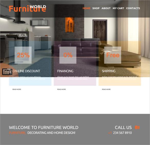 furniture world eshop joomla theme
