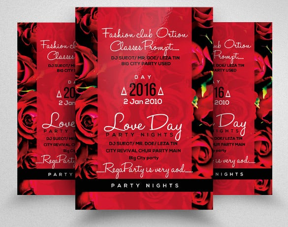 colorful wedding flyer template download