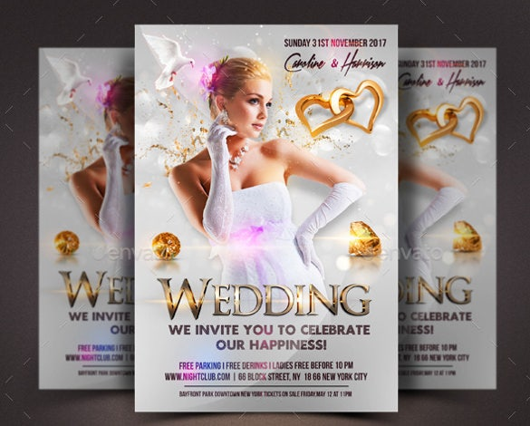 Wedding Flyer   Free Psd Ai Vector Eps Format Download  Free