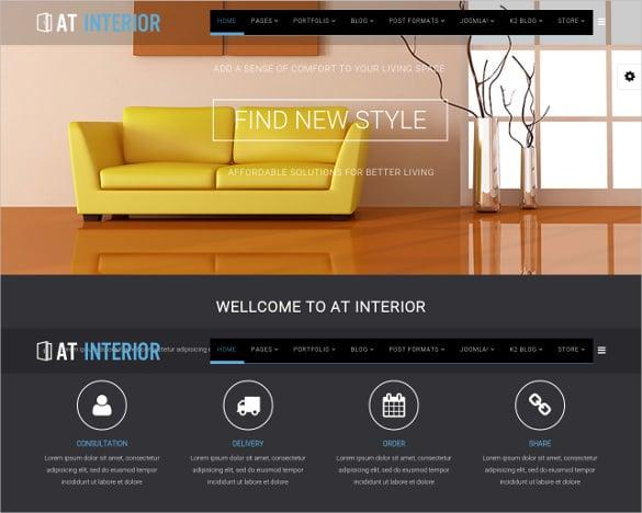 interior furniture joomla template