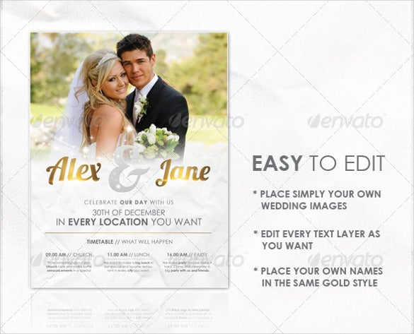 easy to edit wedding flyer template download