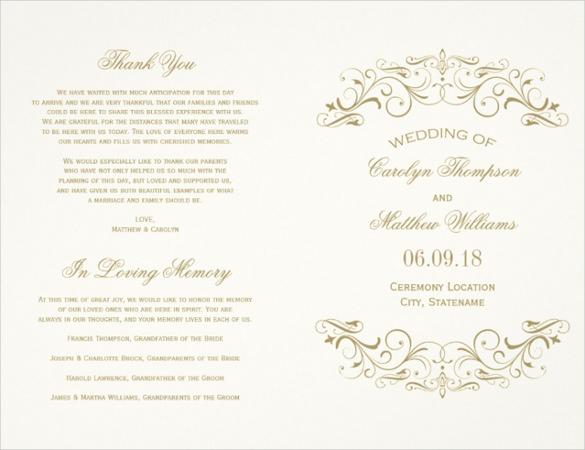 vintage wedding flyer template download