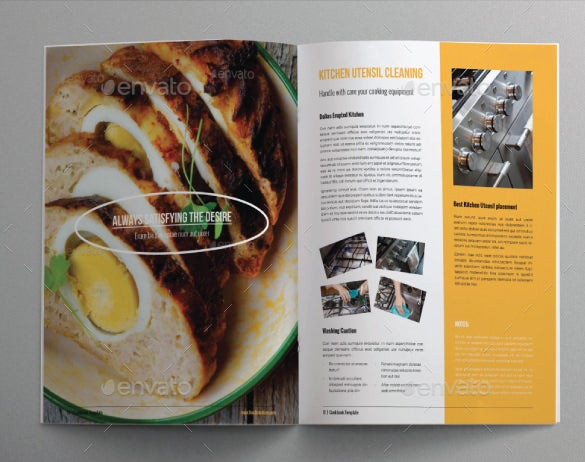 cookbook food brochure template indesign format download