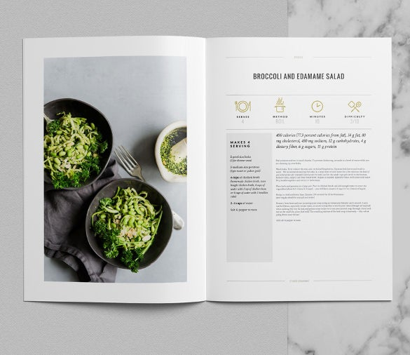 Cookbook Cover Template Free Download : Cookbook templates psd ai vector eps free