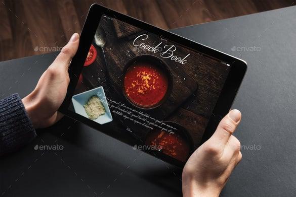 interactive restaurant cookbook template design download