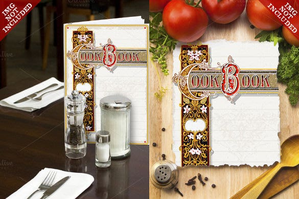 vintage cookbook ornamental page eps format download