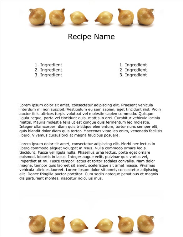 onions cookbook template free psd design format download