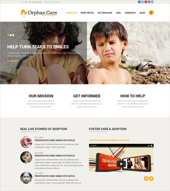 orphanage donations non profit blog joomla template 75