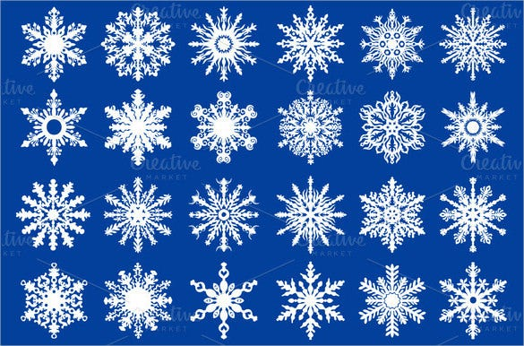 24 stunning vector snowflake pattern download