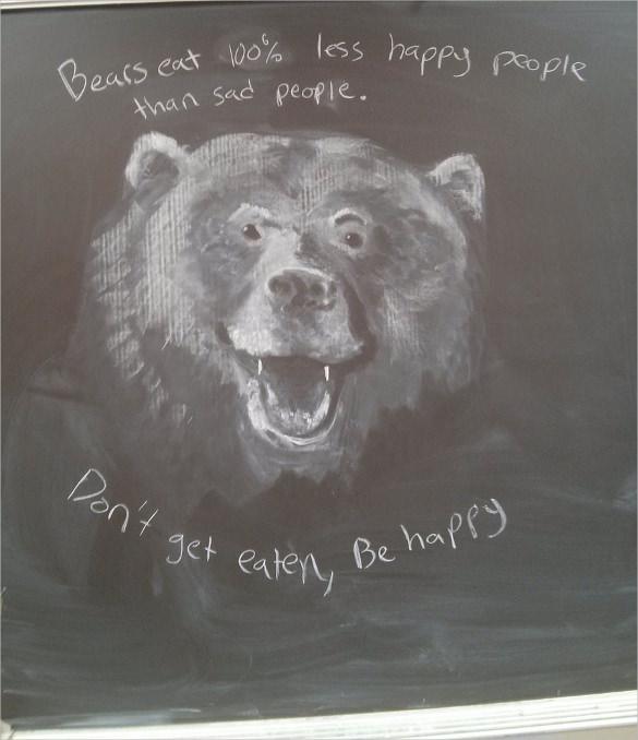 bear chalk art