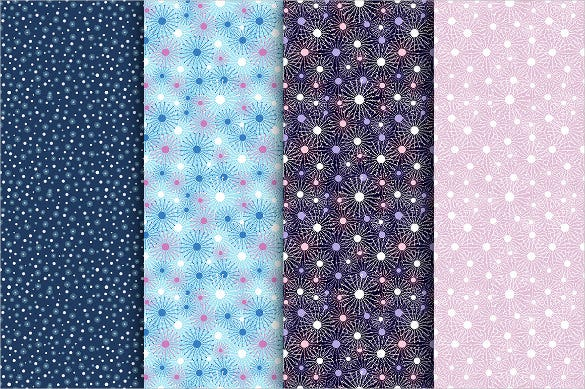 beautiful bright winter snowflake pattern