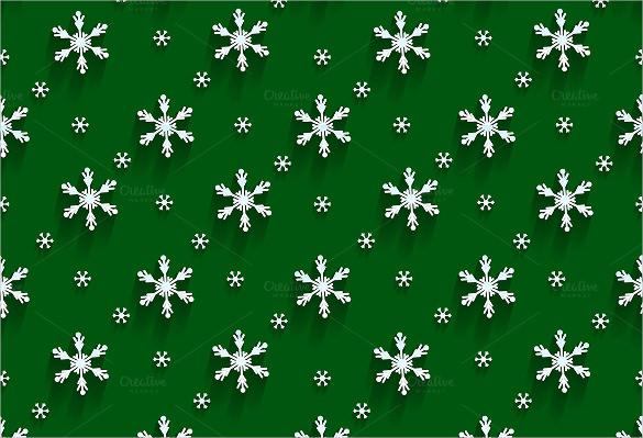 12 flat design snowflake pattern