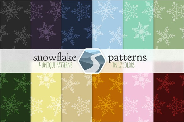48 amazing snowflake pattern set download