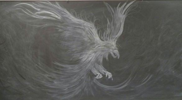 eagle chalk art