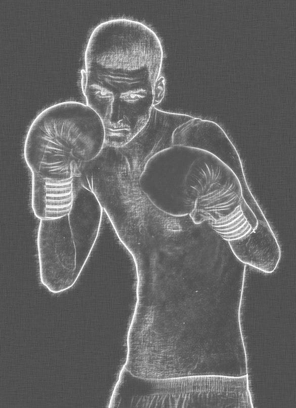 boxing chalk art