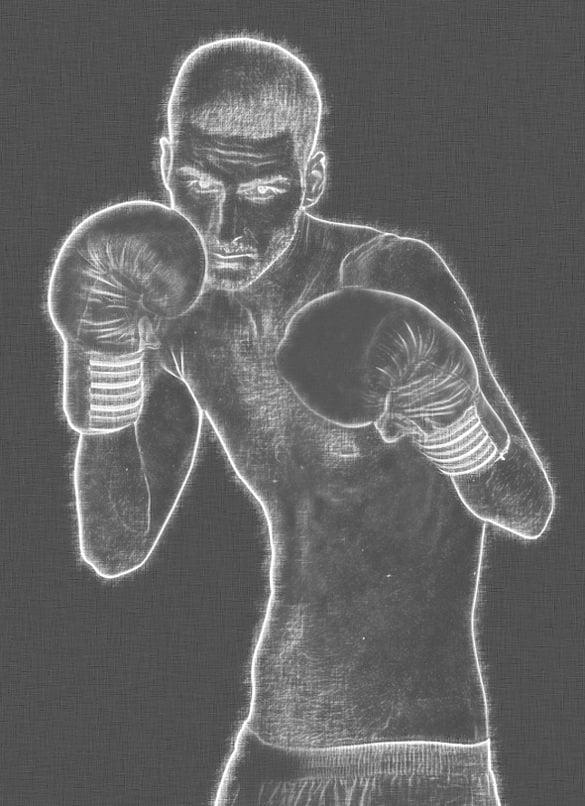 boxing chalk art