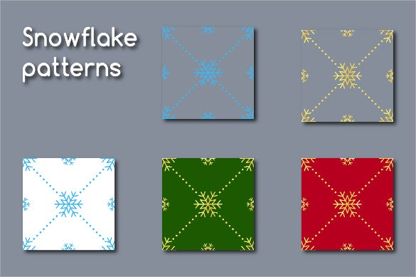 digital paper snowflake pattern download