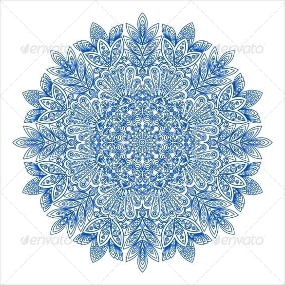ornamental snowflake pattern design download