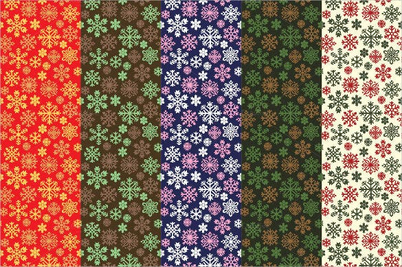 christmas snowflakes pattern design