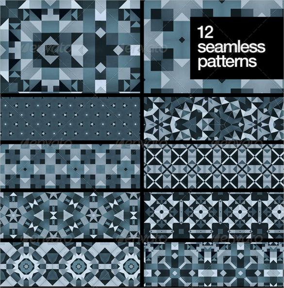 12 beautiful abstract snowflake patterns