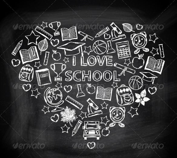 school chalk art