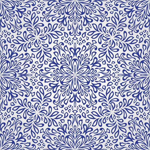 vintage style snowflake pattern