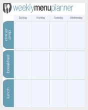 One Week Menu Planner Template Download