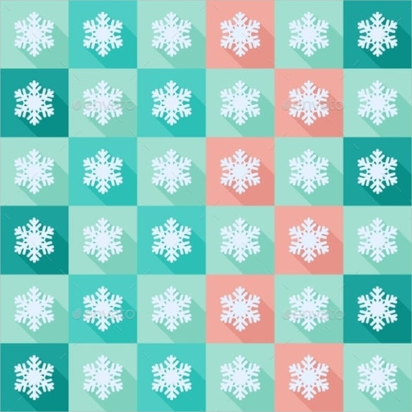 flat snowflake pattern design download