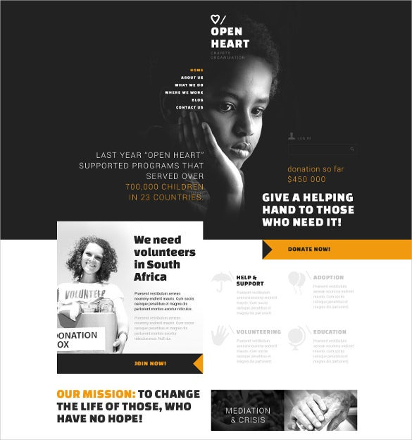 charitable donation non profit blog joomla template 75