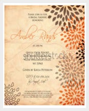 Abstract Wedding Menu Template Download
